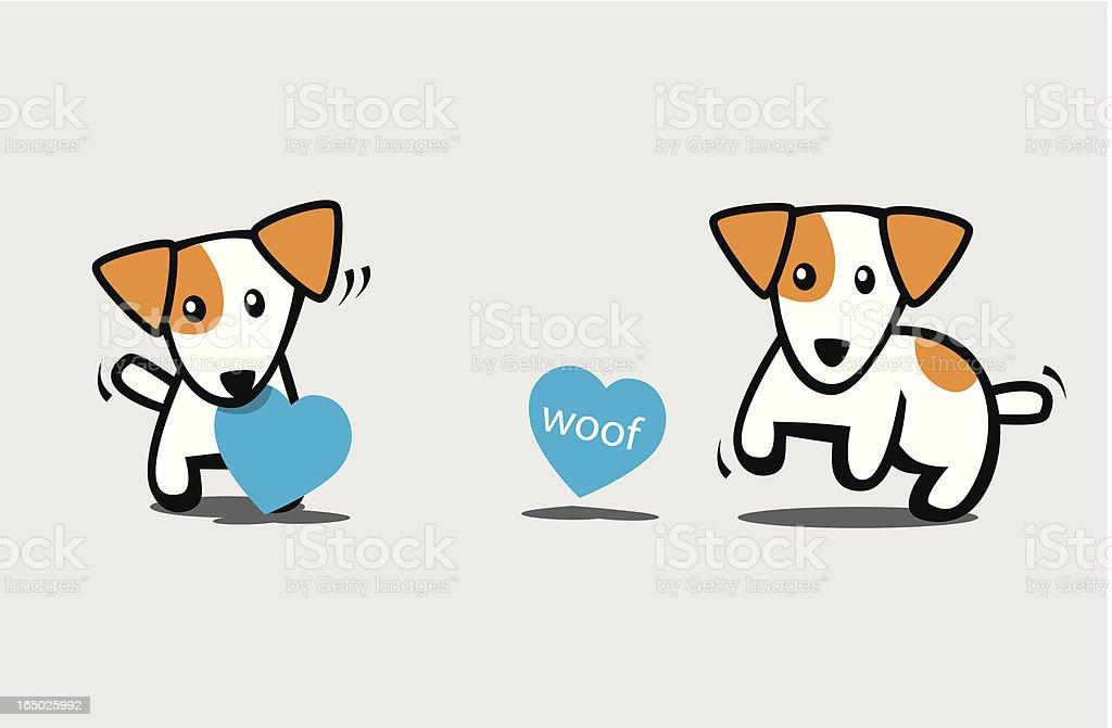 Ilustración de Jack Russell Terrier Perro Con Cartel En Forma De ...
