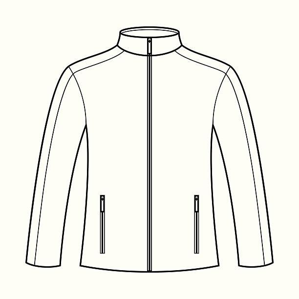 illustrazioni stock, clip art, cartoni animati e icone di tendenza di modello di giacca - mockup outdoor rain