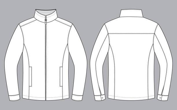 illustrazioni stock, clip art, cartoni animati e icone di tendenza di jacket vector for template - giacca