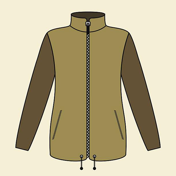 illustrazioni stock, clip art, cartoni animati e icone di tendenza di giacca - mockup outdoor rain