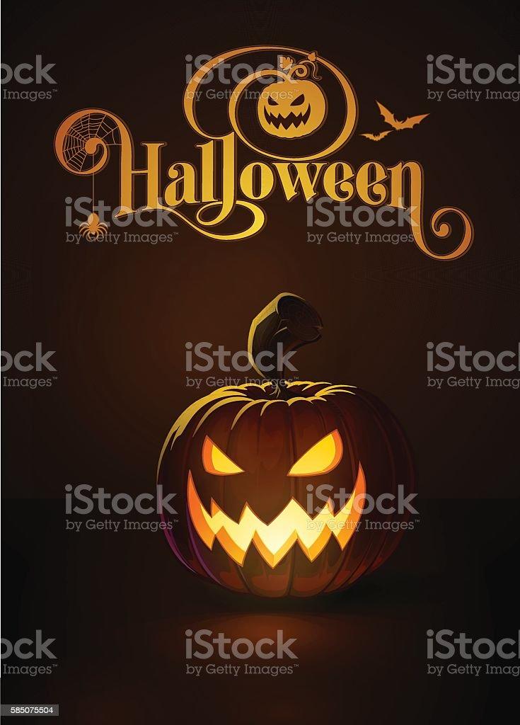 Jack-o-Lantern Dark Scary Cool vector art illustration