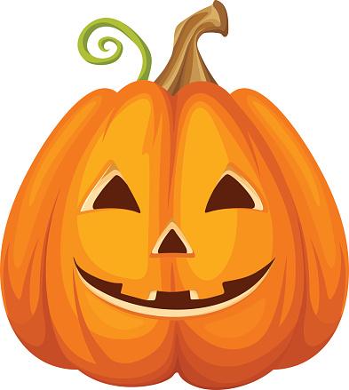 Jackolantern Halloween Pumpkin Vector Illustration Stock Illustration - Download Image Now - iStock
