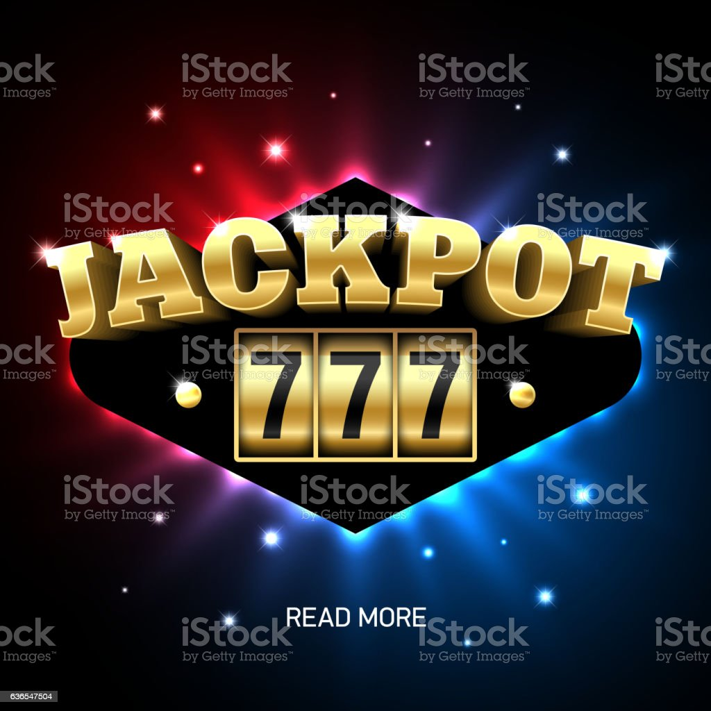 Jackpot 777 vector art illustration