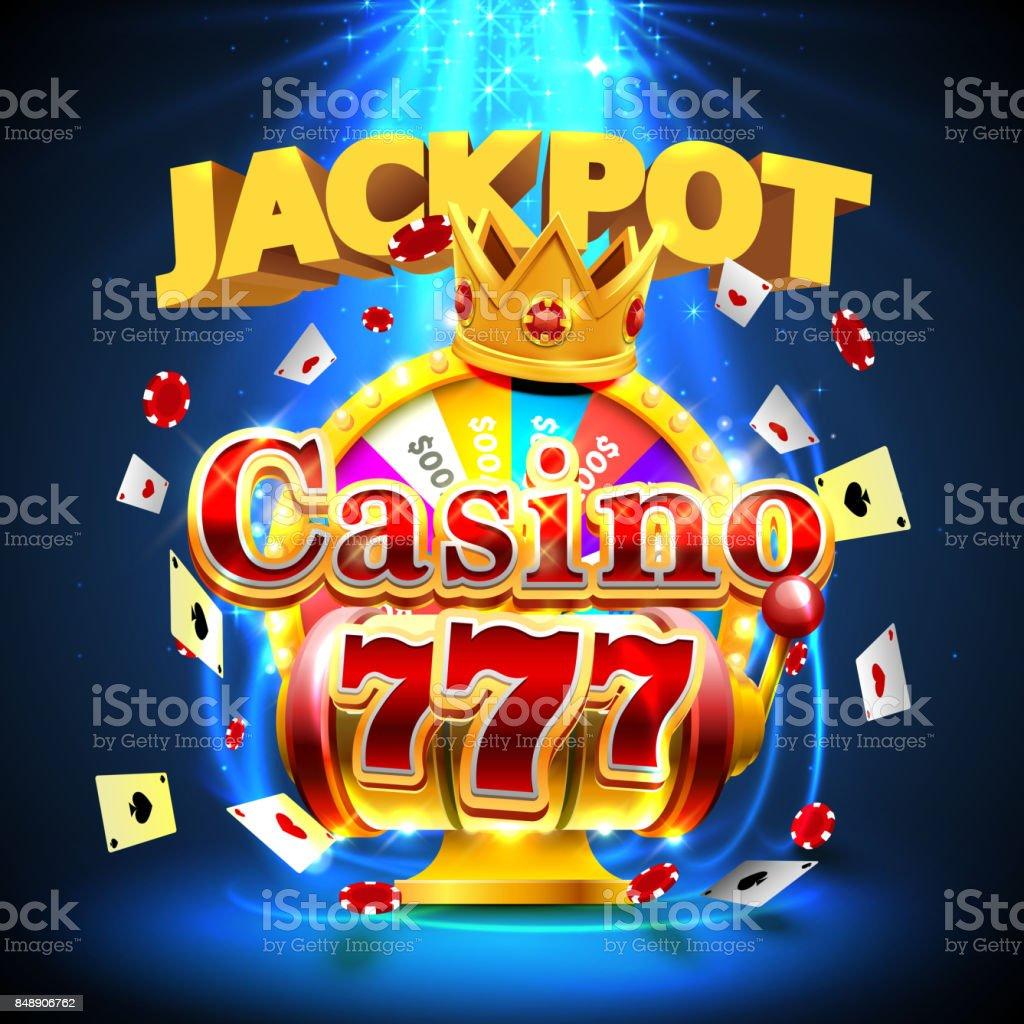 ジャック ポット カジノ 777 スロットと富は王のバナーです。 ベクターアートイラスト
