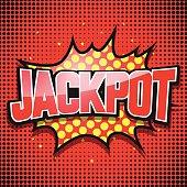 Jackpot. Comic Speech Bubble. Vector illustration