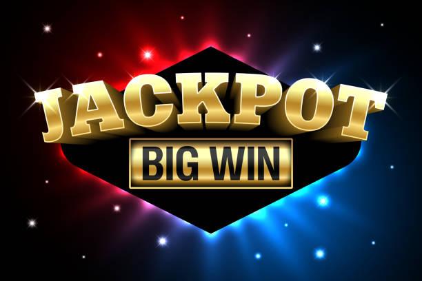 Jackpot, gambling casino money games banner Jackpot, gambling casino money games banner, big win, vector illustration lottery stock illustrations