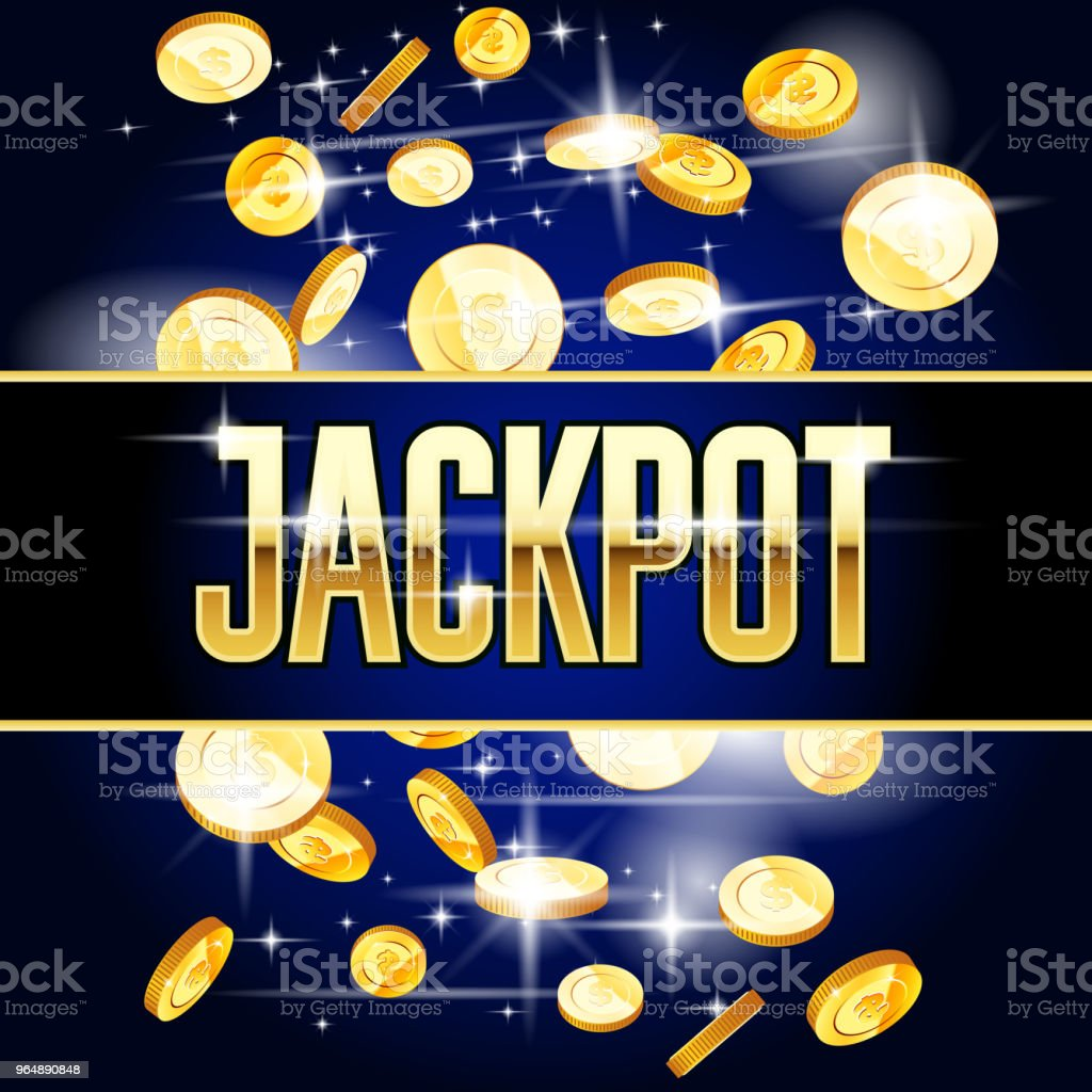 Jackpot header and coins - casino and win background royalty-free jackpot header and coins casino and win background stock vector art & more images of achievement