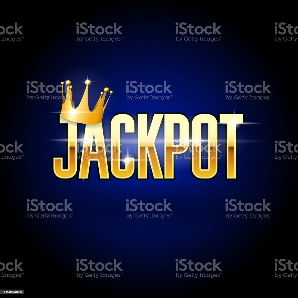 獎金頭與皇冠賭場和贏得背景 - 免版稅中獎圖庫向量圖形