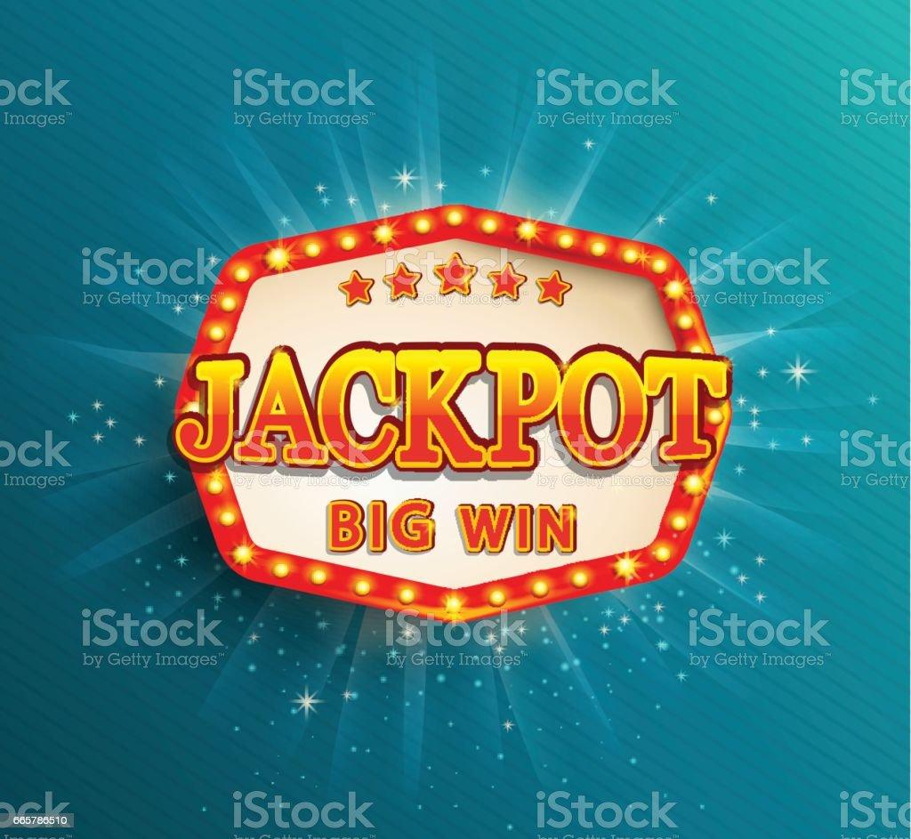 Bandeira de iluminação do jackpot. Grande vitória. - ilustração de arte em vetor