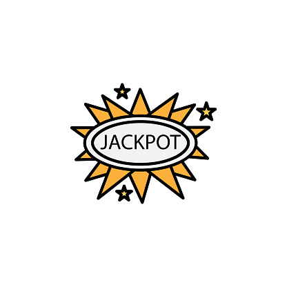 jackpot line icon. Signs and symbols can be used for web, logo, mobile app, UI, UX on white background.