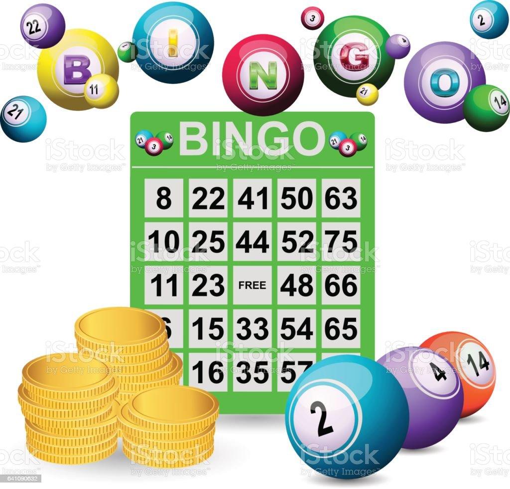 Jackpot en Bingo - ilustración de arte vectorial