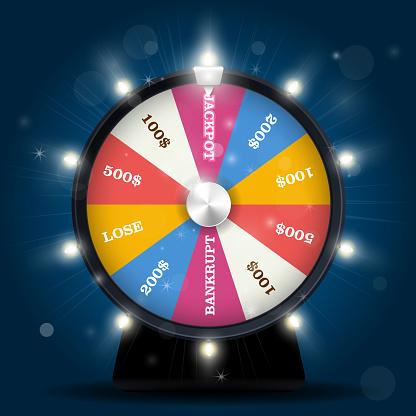 Jackpot on wheel of fortune - lottery win