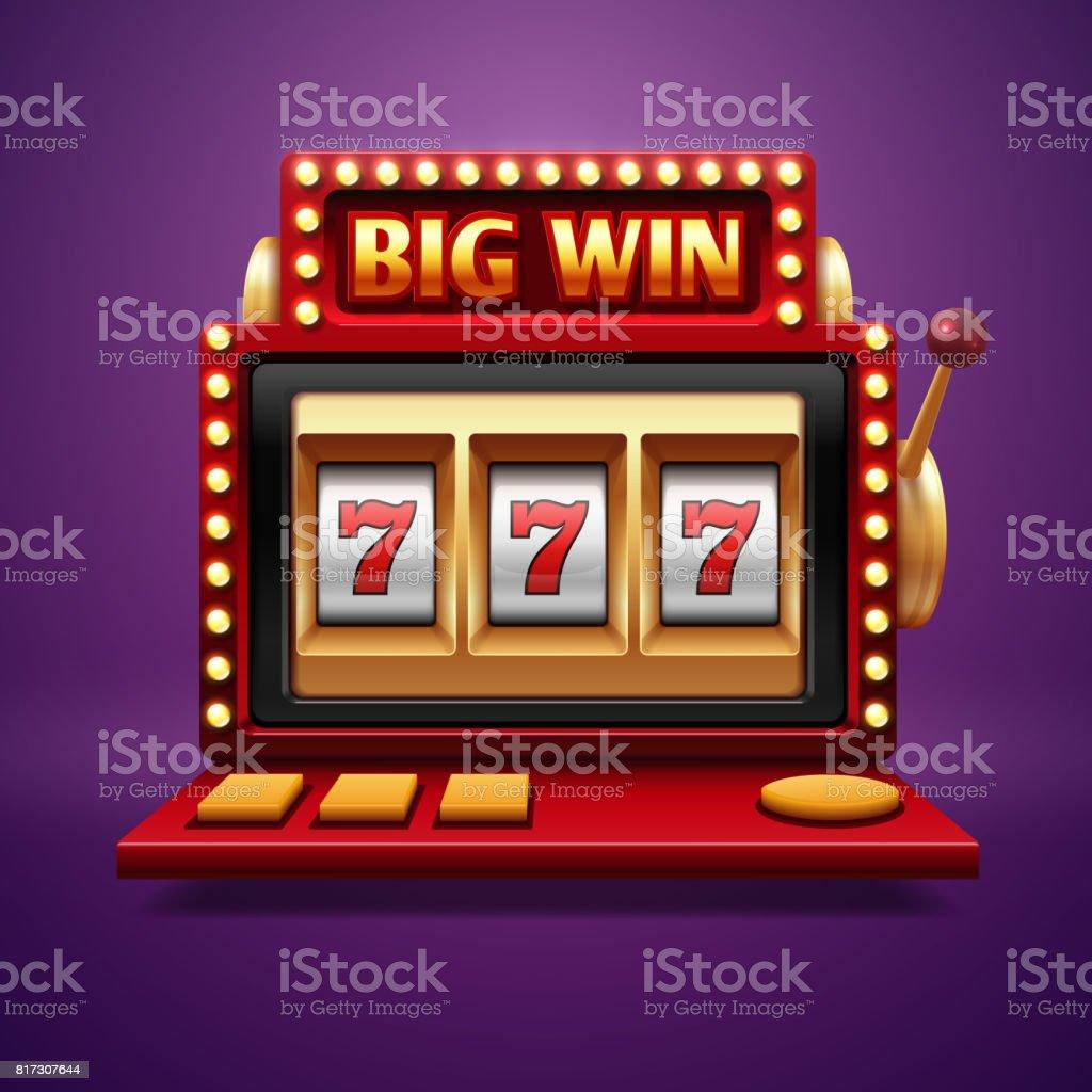 Jackpot casino machines. Bandit un bras Vector - Illustration vectorielle