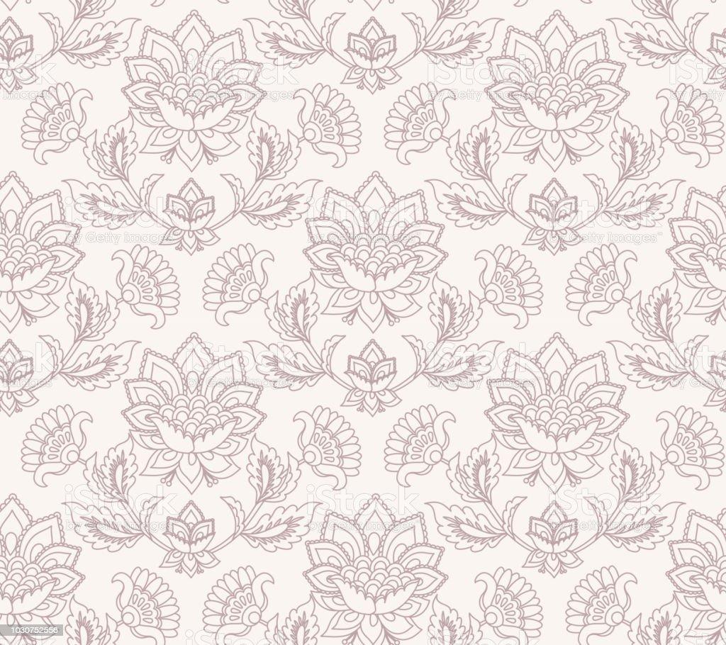 Ilustración de Patrón De Vector Floral Jacobea Fondo De Flores De ...