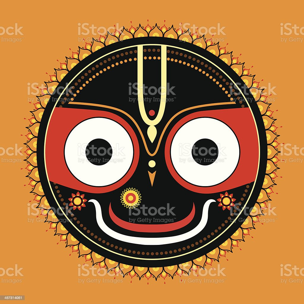 Jagannath. Indian God of the Universe. royalty-free jagannath indian god of the universe stock vector art & more images of anthropomorphic smiley face