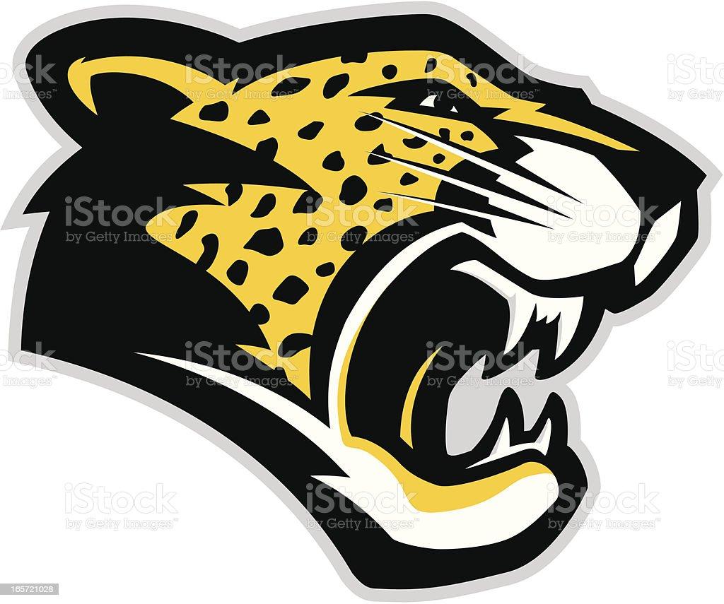 Jaguar head mascot royalty-free stock vector art