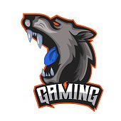 E-sports team logo template with Jaguar vector illustration