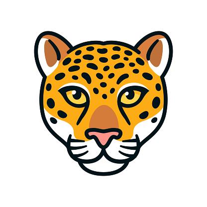 Jaguar or leopard head