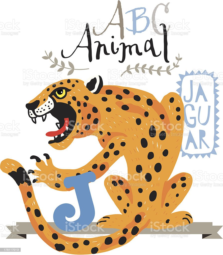 ABC jaguar royalty-free stock vector art