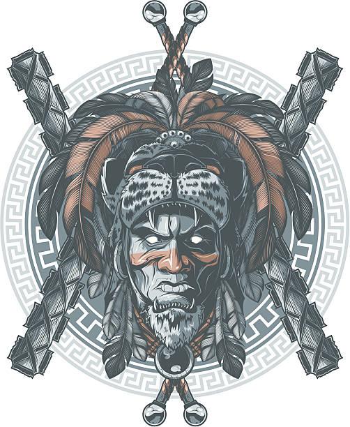 Vectores De Guerrero Azteca E Ilustraciones Libres De Derechos Istock