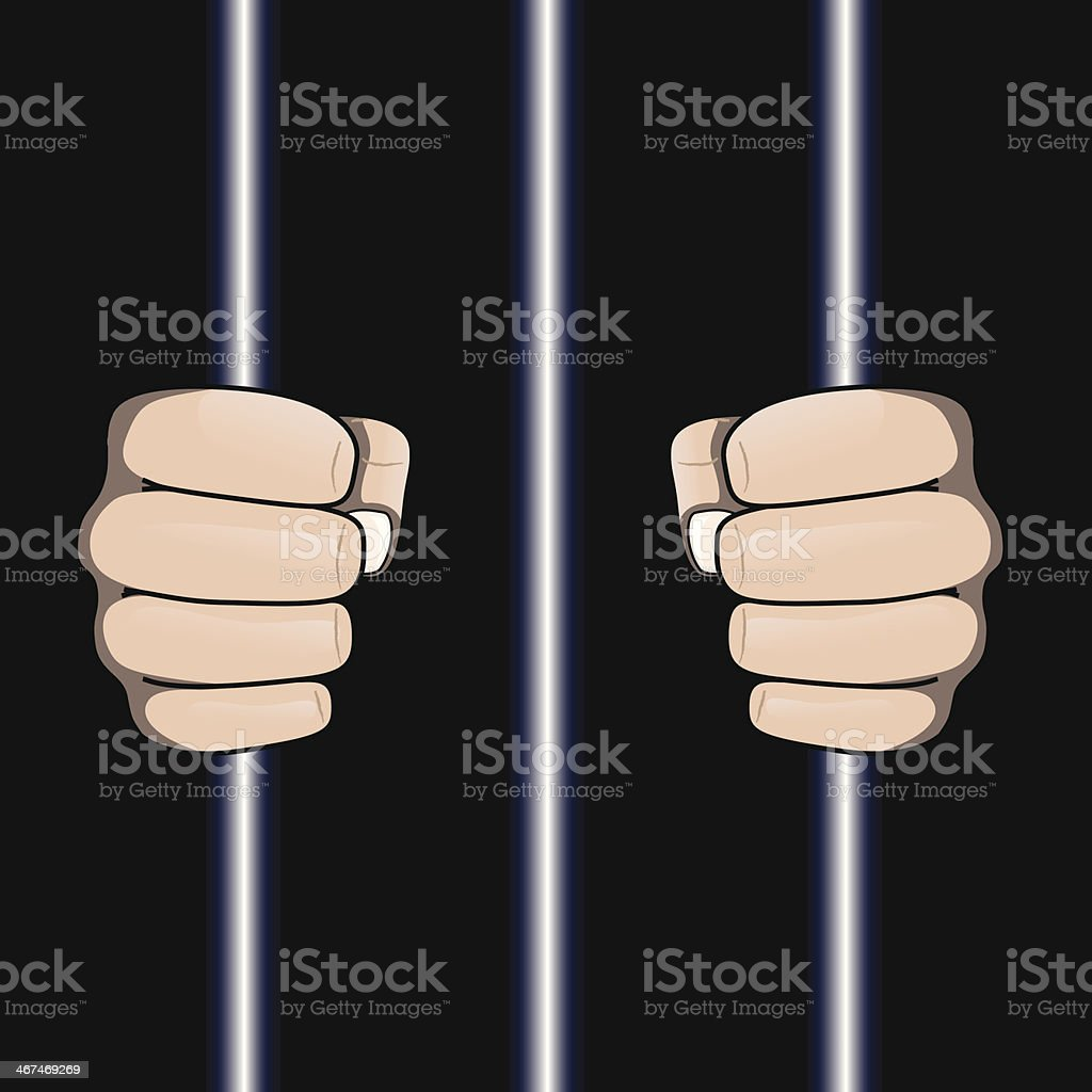 Jailed royalty-free stock vector art
