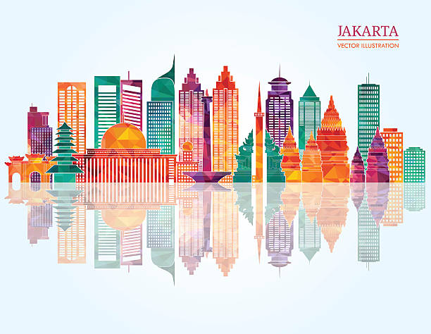 Jakarta detailed skyline. Vector illustration vector art illustration