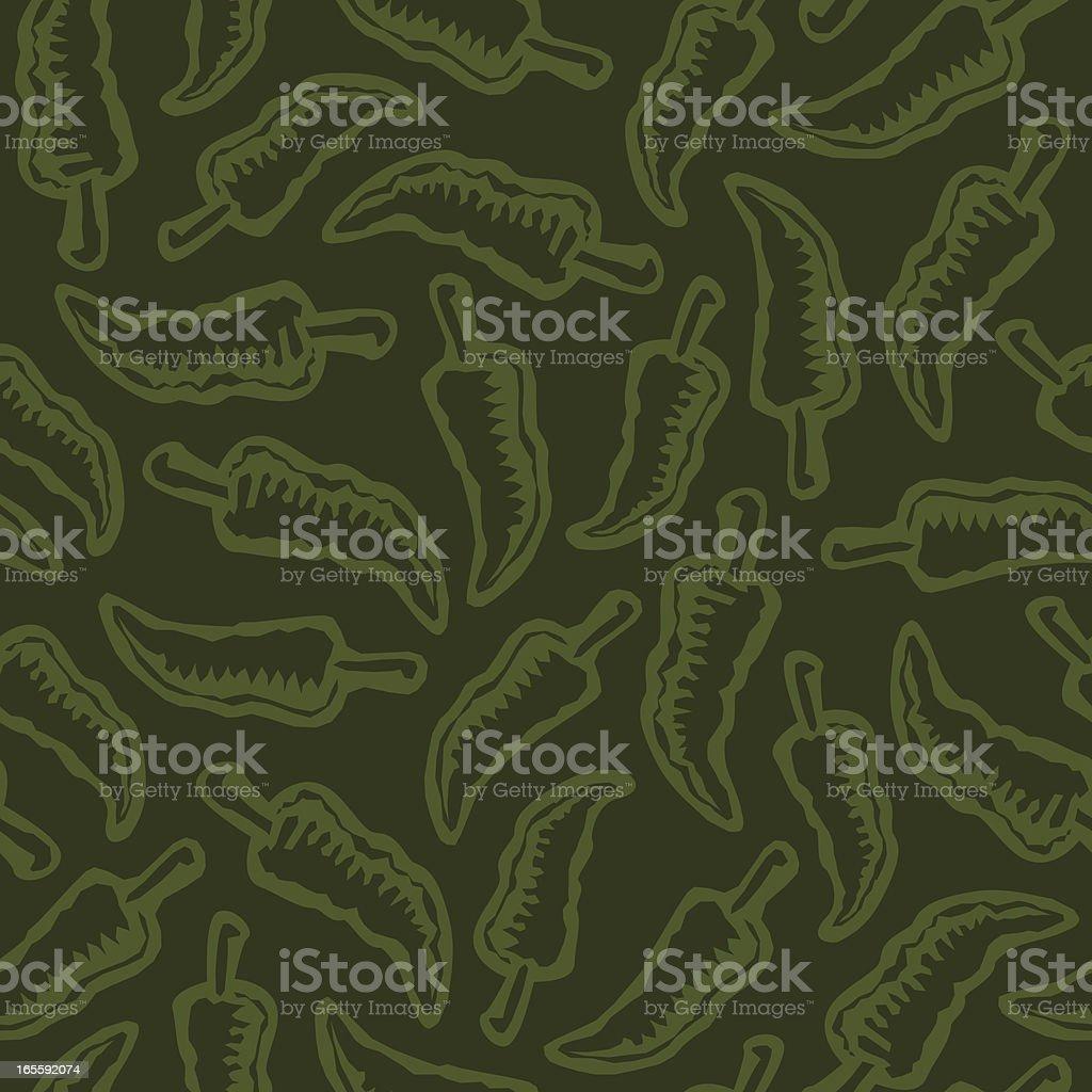 Jalapeño Seamless Background royalty-free stock vector art