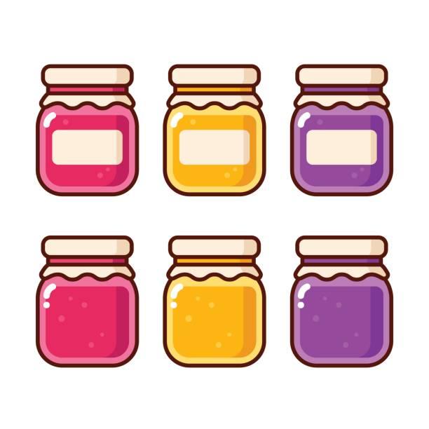 ilustrações de stock, clip art, desenhos animados e ícones de jam jar icons - jam jar