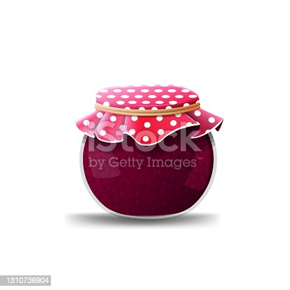 istock Jam jar isolated on white background for your creativity 1310736904