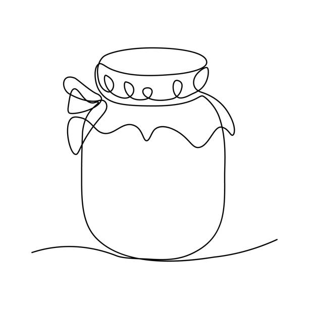 ilustrações de stock, clip art, desenhos animados e ícones de jam jar - jam jar