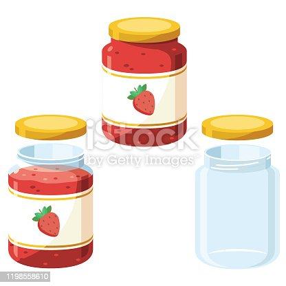 Empty + Full jam jars