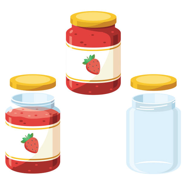 jam jars - russelltatedotcom stock illustrations