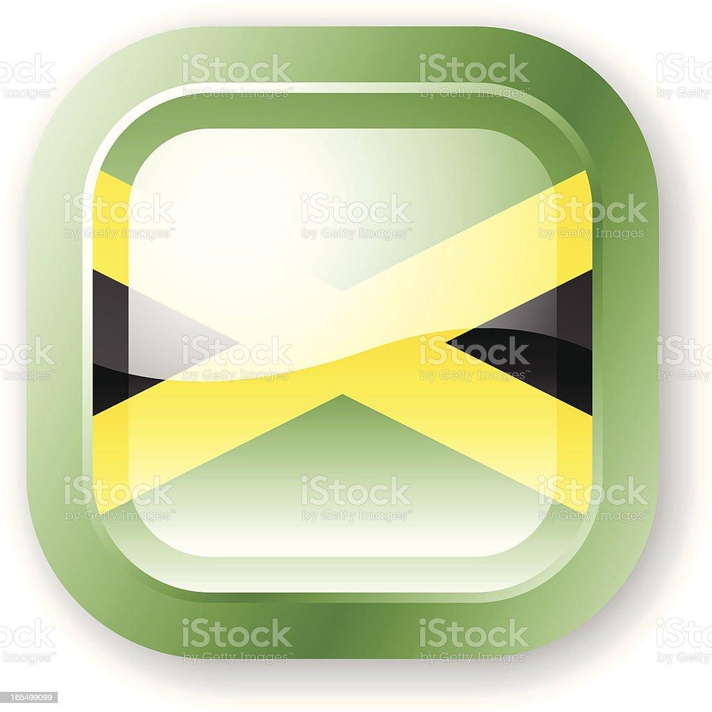 Jamaica Flag Icon royalty-free stock vector art
