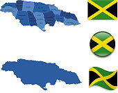 Jamaica Map and Flag Collection