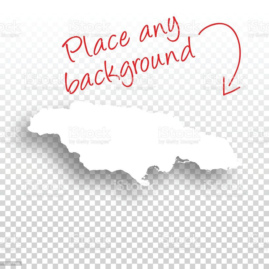Jamaica Map for design - Blank Background vector art illustration