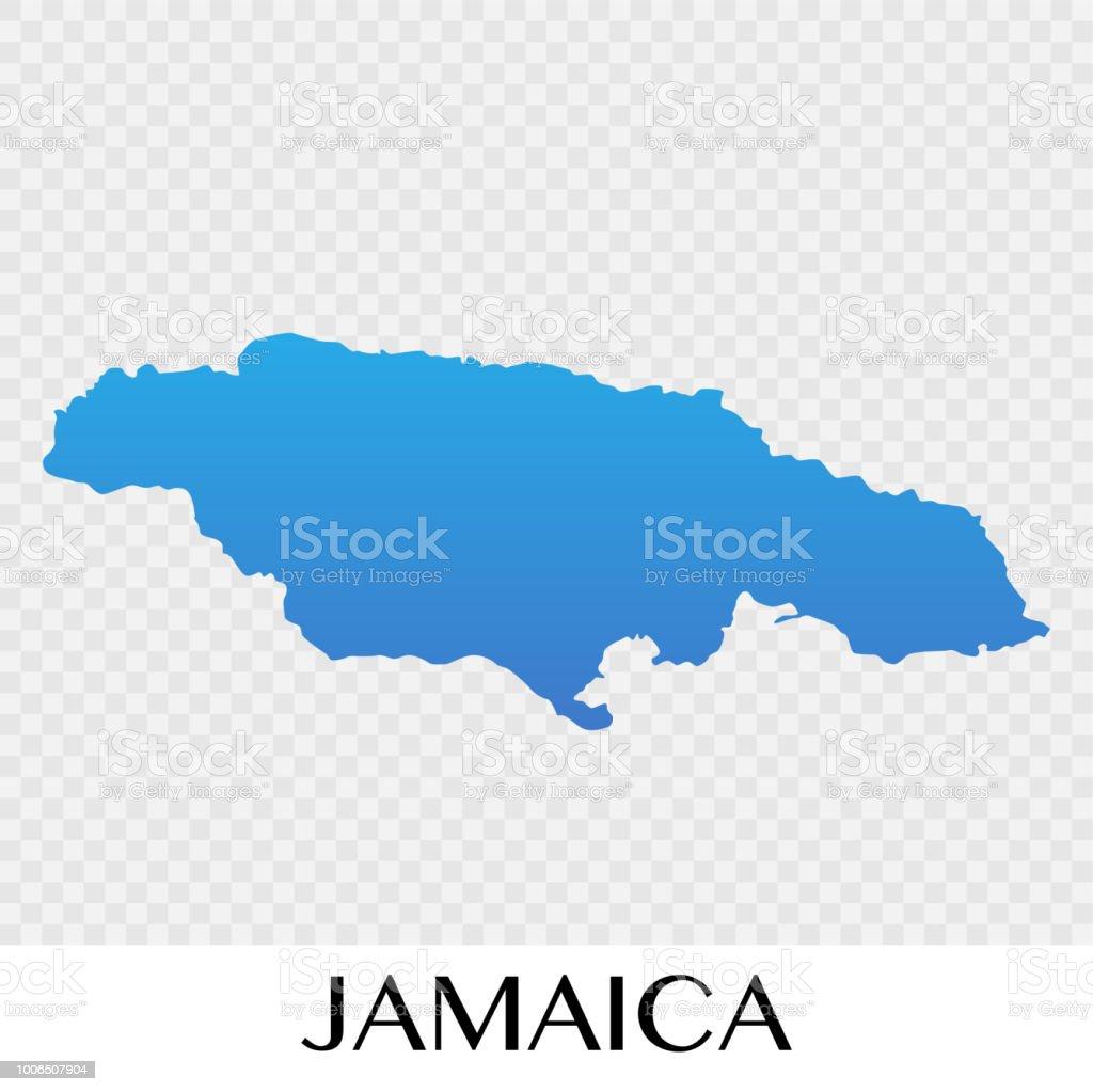 Jamaica Map In North America Continent Illustration Design Stock ...