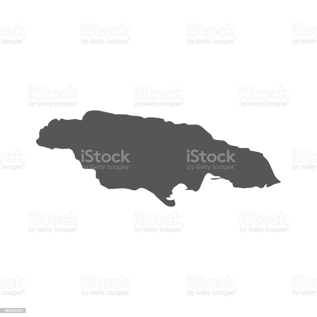 Jamaica vector map. royalty-free jamaica vector map stock vector art & more images of black color