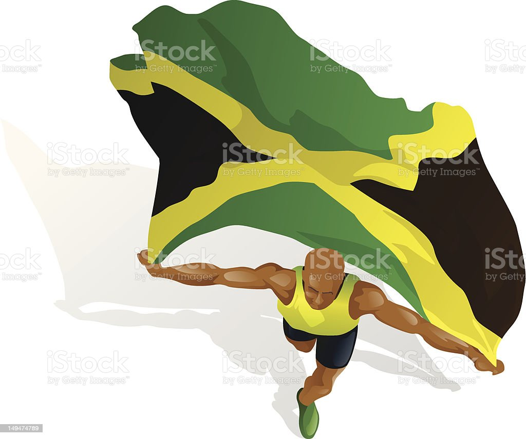 Jamaican Race Winner royalty-free stock vector art