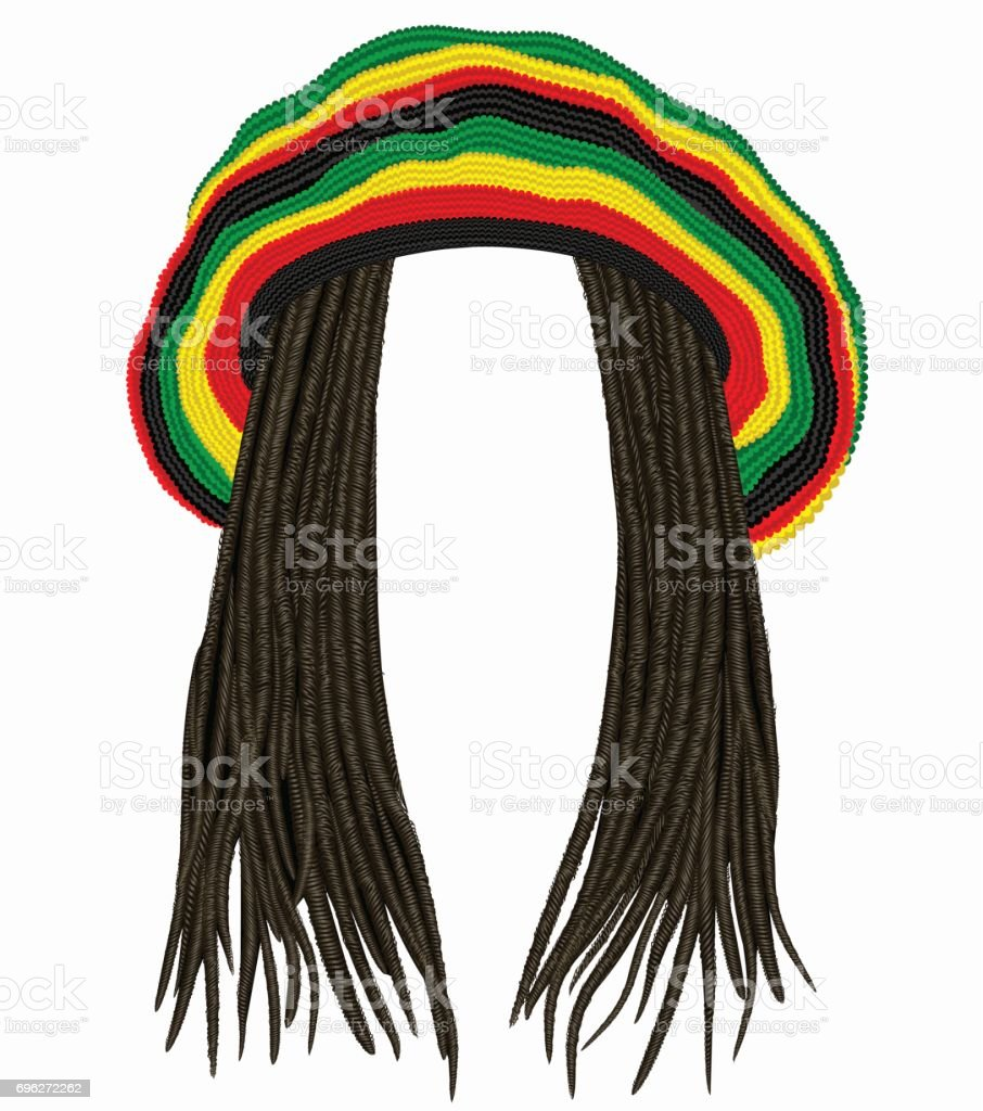 Dreadlocks Hat Royalty Free Rasta Clip Art Vector Images
