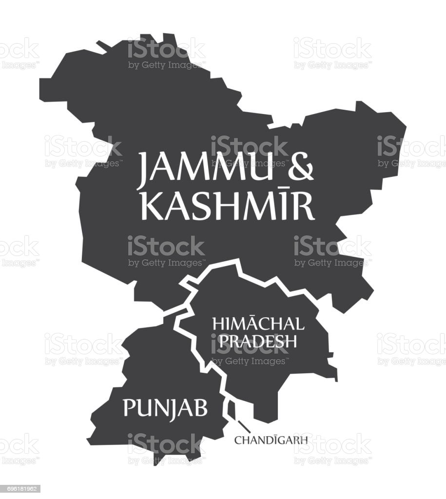 Jammu And Kashmir Himachal Pradesh Punjab Chandigarh Map ...