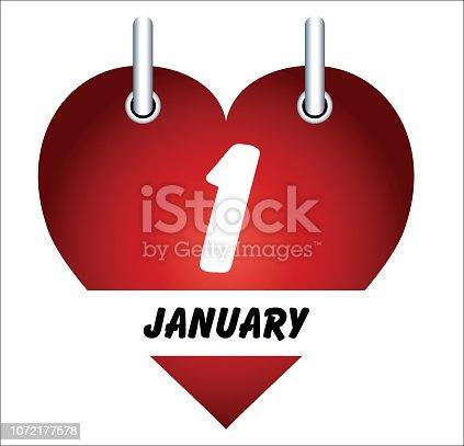 istock January 1 and love 1072177578