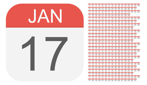 stockillustraties, clipart, cartoons en iconen met 1 januari - 31 december - kalender pictogrammen. alle dagen van het jaar. - juni