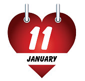 Vector January 11 and love
