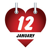 Vector January 12 and love