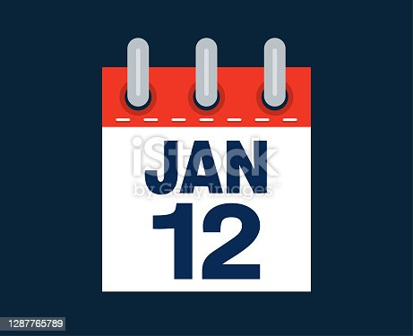istock January 12th calendar date of the month 1287765789