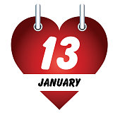 Vector January 13 and love