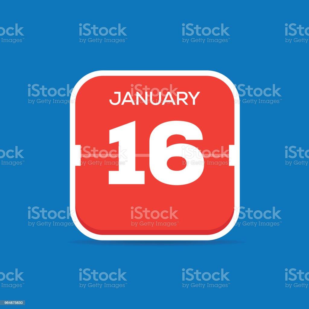 January 16 Calendar Flat Icon royalty-free january 16 calendar flat icon stock vector art & more images of art