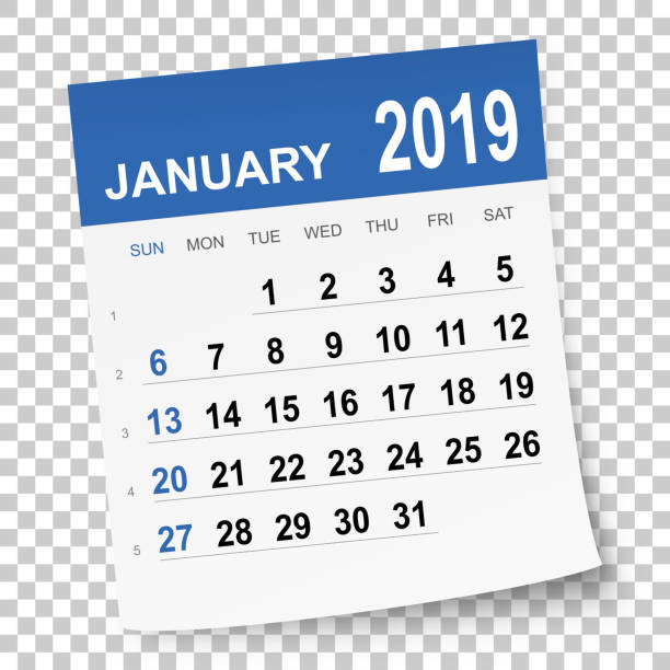 January 2019 Calendar Clip Art Best January Illustrations, Royalty Free Vector Graphics & Clip