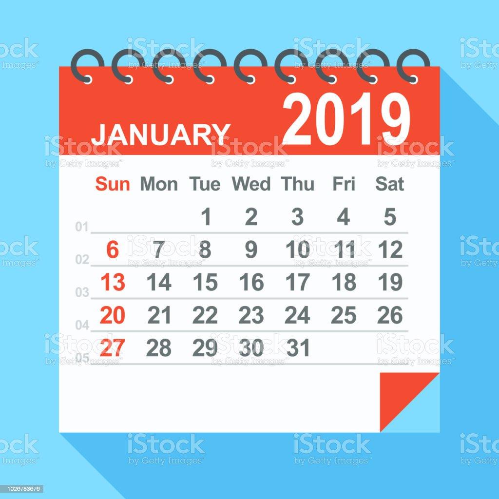 Semaine 2019 Calendrier.Janvier 2019 Calendrier La Semaine Commence A Partir De