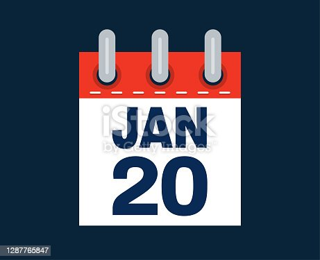 istock January 20th calendar date of the month 1287765847